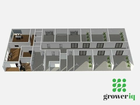 GrowerIQ's experts work with you to custom design a space that fits your micro-cultivation license plan.